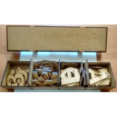 Caixa de Alfabetização em MDF