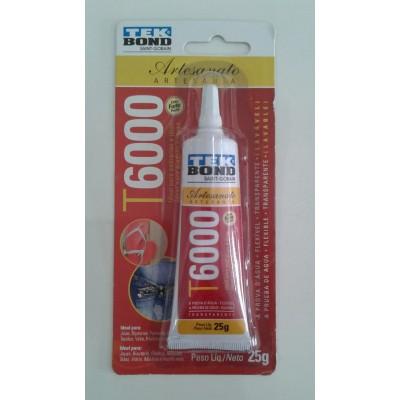 Adesivo Cola Tekbond Artesanato T6000 Transparente Lavavel