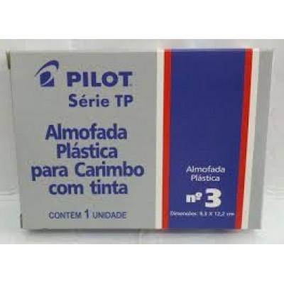 ALMOFADA P/ CARIMBO Nº 3 C/ TAMPA PLASTICA - COR AZUL PILOT