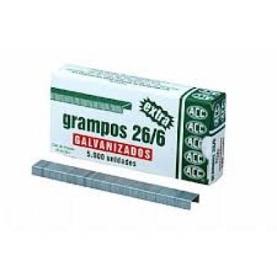 GRAMPO 26/6 GALVANIZADO C/5000  ACC