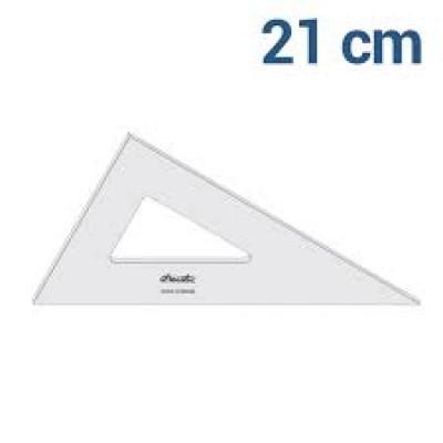 ESQUADRO DE ACRILICO MOD.2621 60 G 21 CM/2MM S/ESCALA