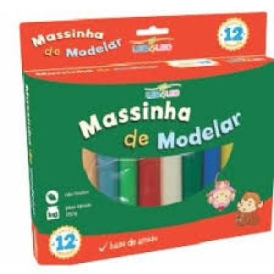 MASSA DE MODELAR C/ 12 CORES LEO E LEO