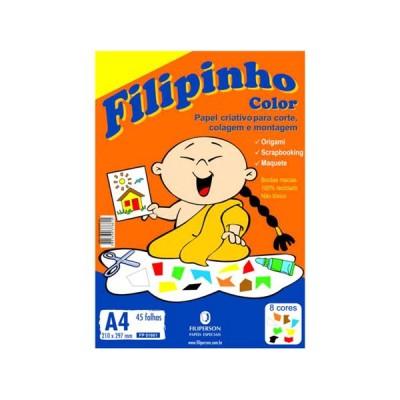PAPEL FILIPINHO COLOR 8CORES  A4 45 FLS