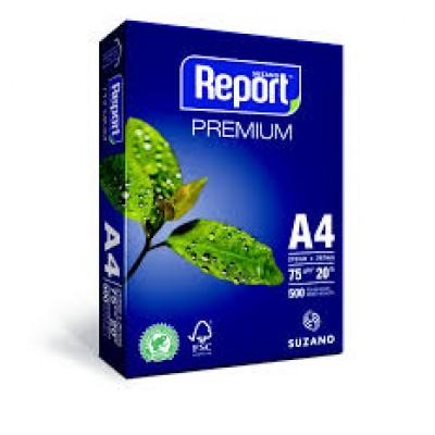 PAPEL A4  BRANCO REPORT C/ 500 FLS