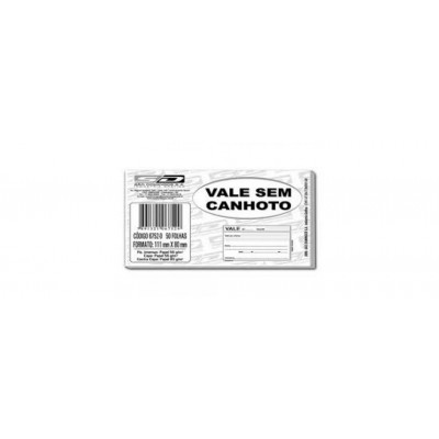 BLOCO VALE S/ CANHOTO C/ 50 FLS