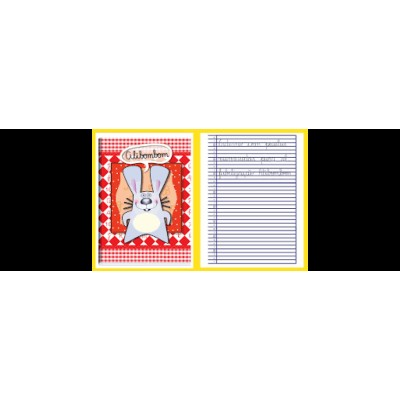 CADERNO ALIBOMBOM C. FLEX 60 FLS 123  VERMELHO