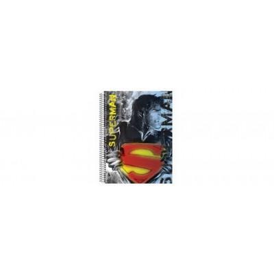 CADERNO UNIVERSITARIO ESPIRAL  CAPA DURA 200 FLS SUPERMAN