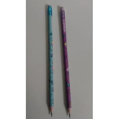Lápis Preto Sereia  Hb c/ borracha Kit C/2 Unidades