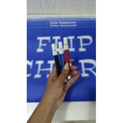 Bloco Flip Chart 64x94 20 Folhas Serrilhado + 3 Pinceis Atom